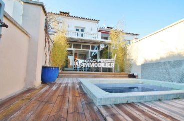 amarre empuriabrava: villa ref.3607, maison de pêcheur avec amarre, jacuzzi et parking privé