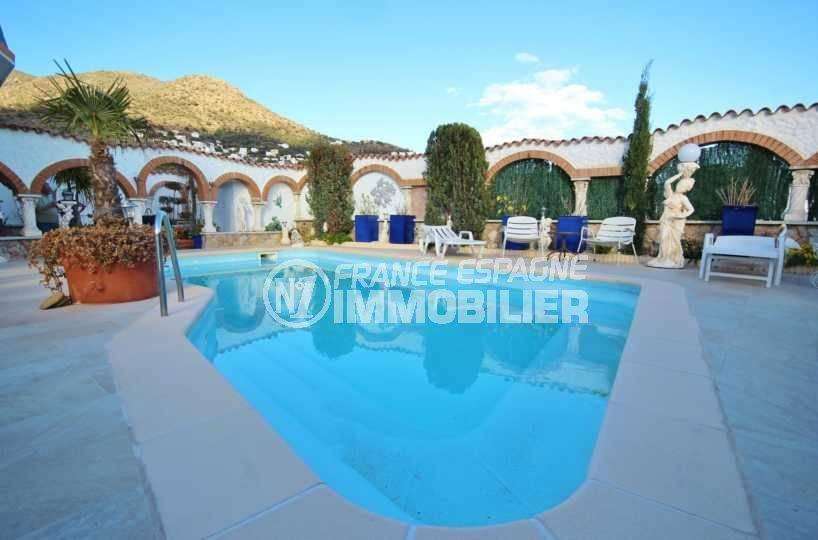 maison a vendre espagne, ref.3616, aperçu de la piscine 8 m x 4 m avec espace détente