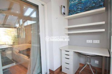 agence immobiliere empuriabrava: ref.3607, coin bureau aménagé sur une des terrasses