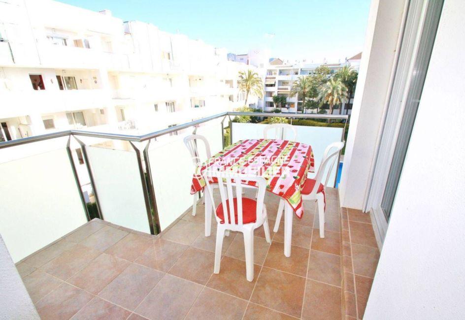 immobilier costa brava: appartement ref.3606, terrasse vue jardins et pisicne