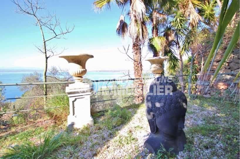 agence immobilière roses: villa ref.3614, jardin de 1140 m² paysagé