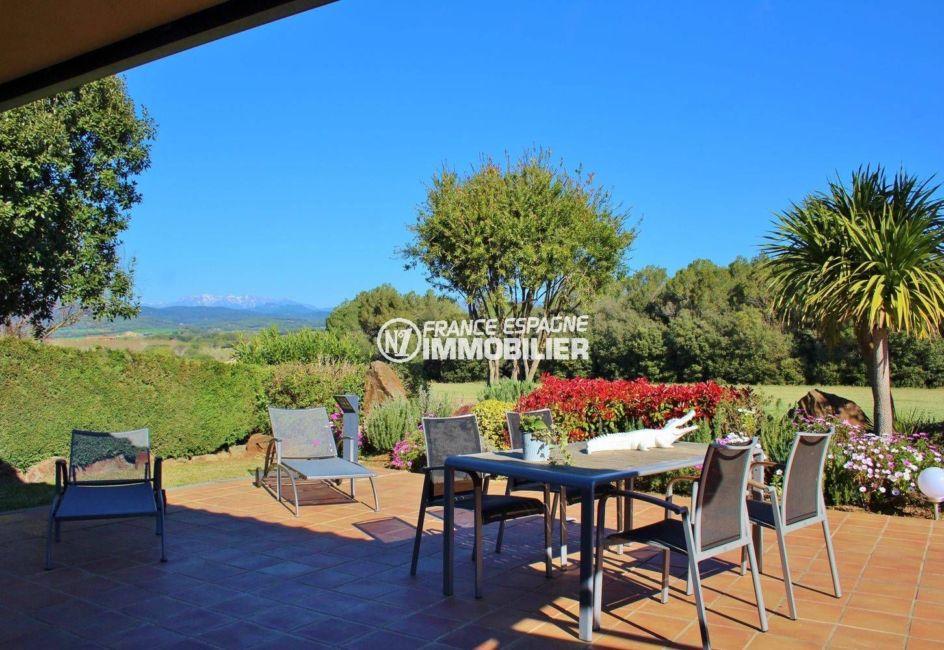vente immobilier costa brava: ref.3621, coin repas et détente aménagé sur la terrasse