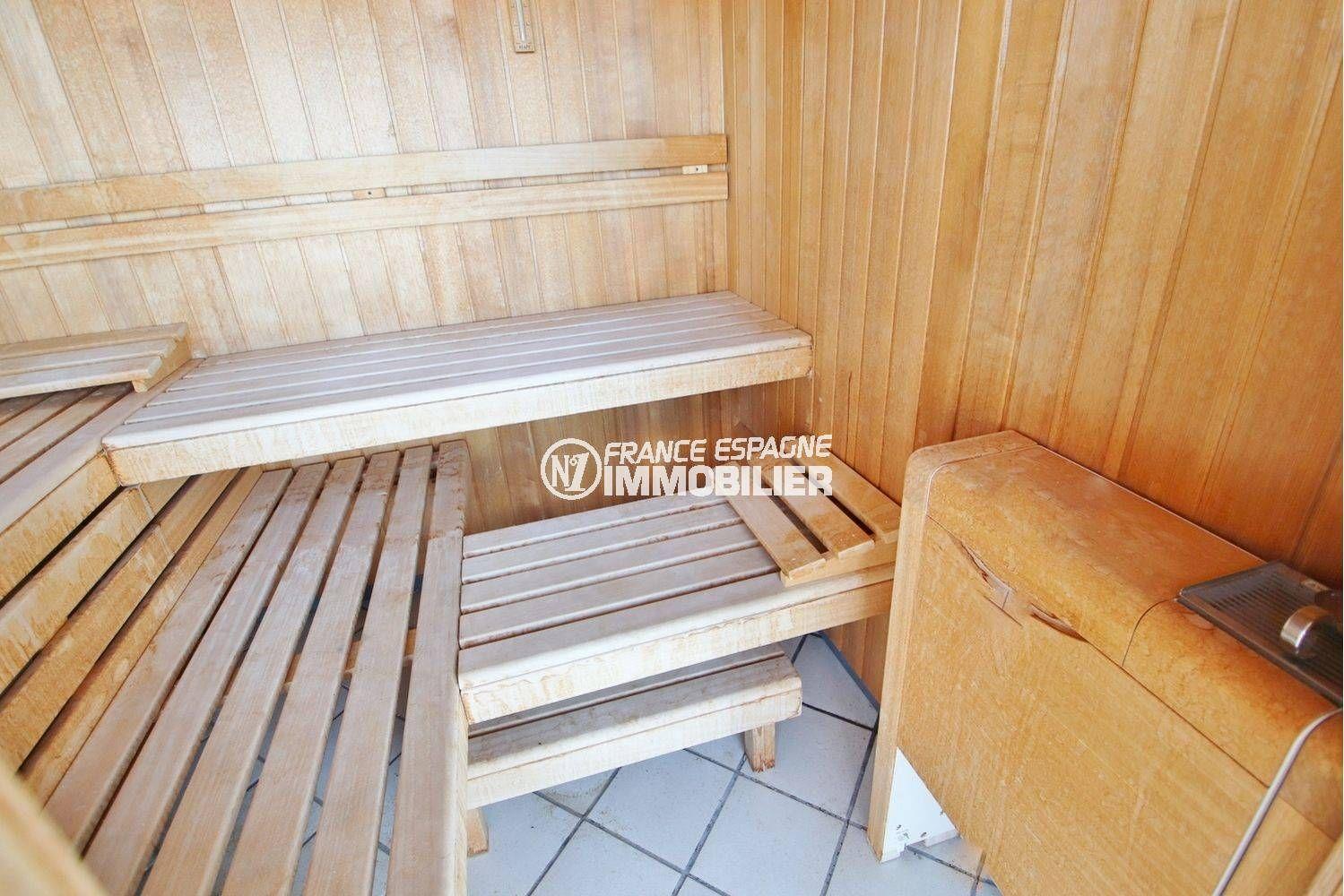 vente immobilier rosas espagne: villa ref.3614, vue rapprochée du sauna