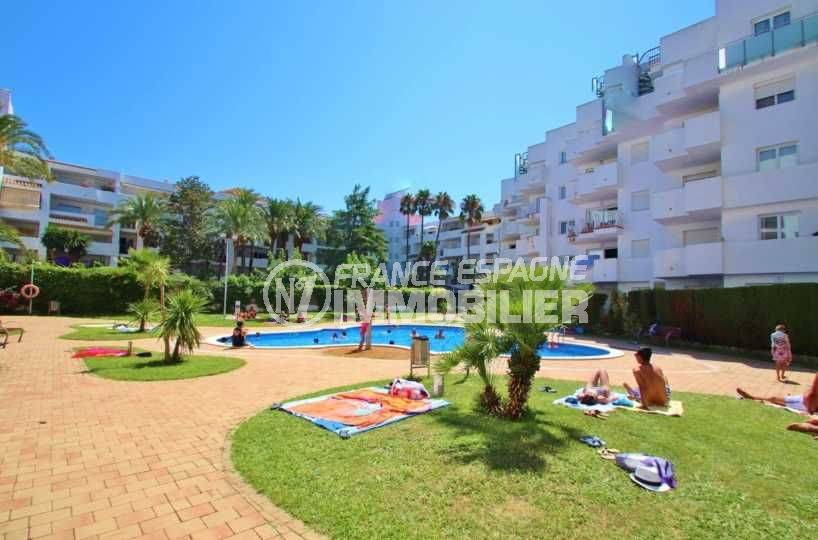 immo costa brava: appartement ref.3606, piscine et jardin dans la résidence