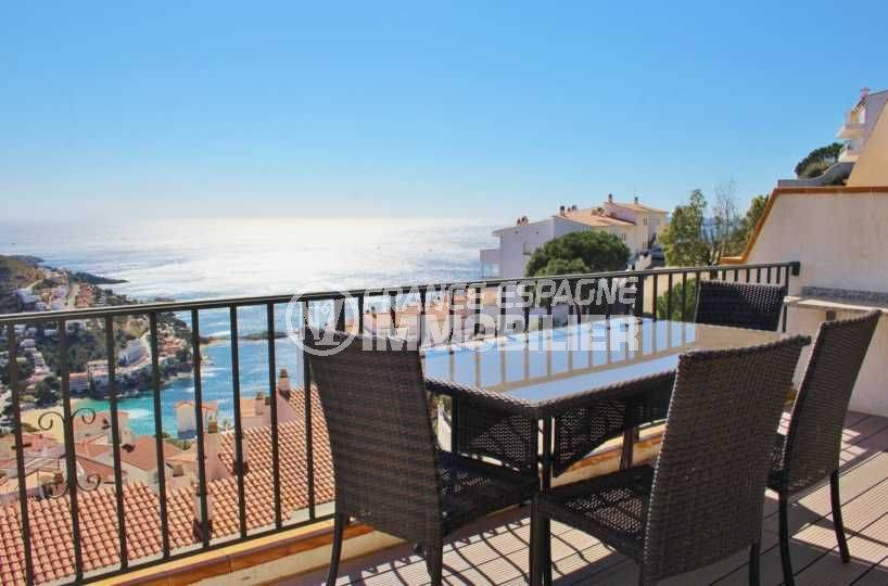 Appartement Canyelles terrasse vue mer