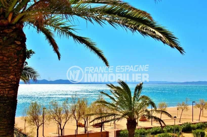 vente appartement espagne costa brava, vue mer frontale, proche plage