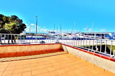 appartement santa margarita, roses, ref.3637, terrasse vue canal, piscine communautaire