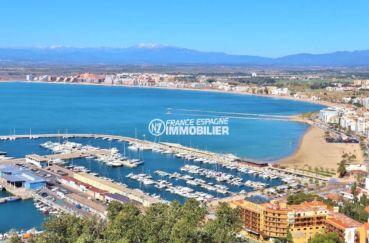 vente appartements rosas espagne: ref. 3633 avec véranda, vue mer, parking, proche plage