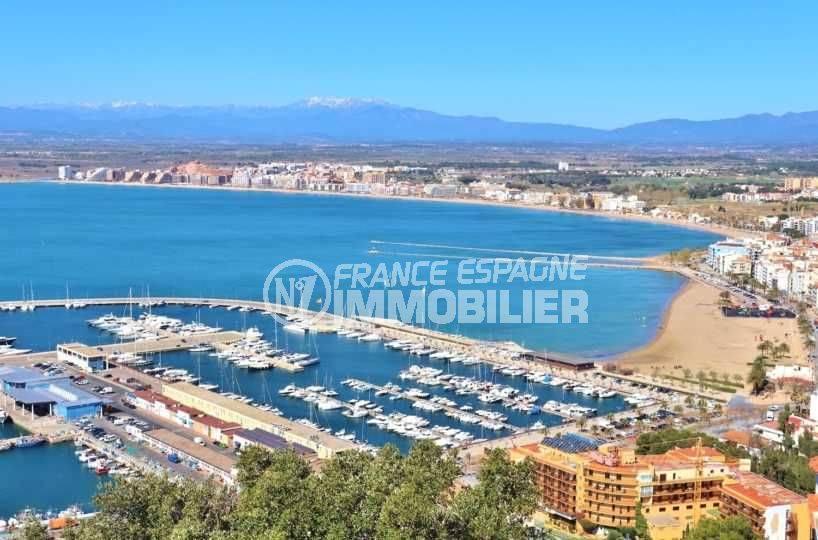 agence immobilière rosas vend appartement vue mer panoramique