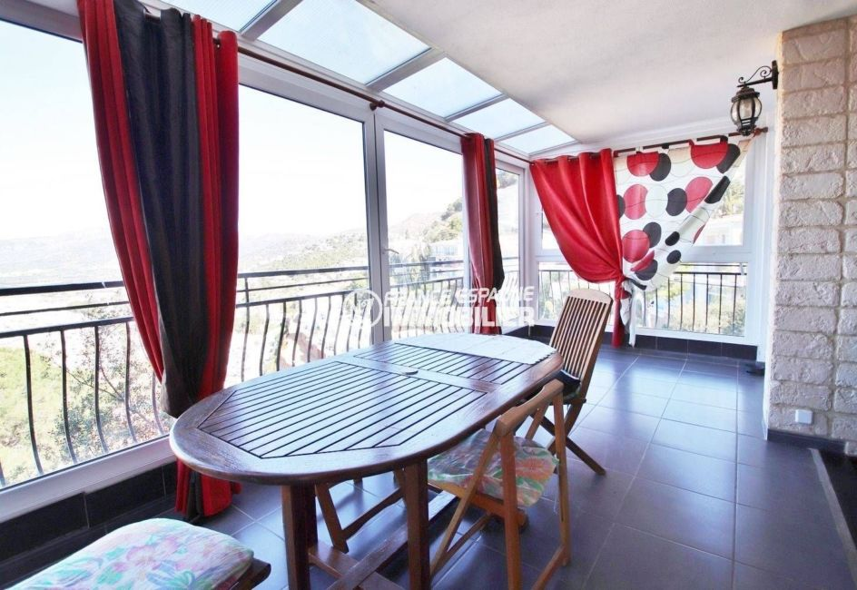 appartement a vendre rosas, ref.3633, véranda de 25 m², vue panoramique sur la mer