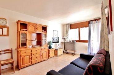 vente appartement rosas, ref.3637, salon / salle à manger accès à la terrasse d'angle
