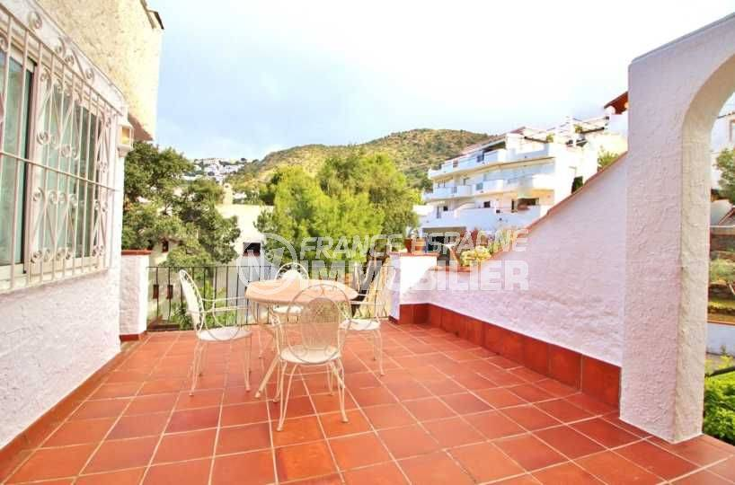 immo costa brava: appartement Roses Canyelles, grande terrasse