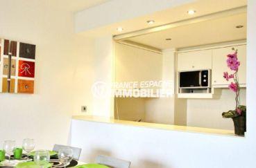 appartement a vendre santa margarita espagne: 69 m² avec terrasse 35 m² vue canal, cuisine américaine aménagée