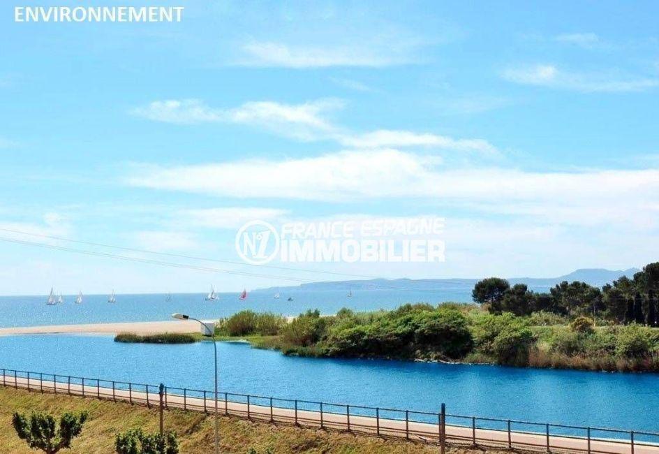 agence immo empuriabrava: studio ref.3639, vue sur la Muga (rivière) et la mer aux environs