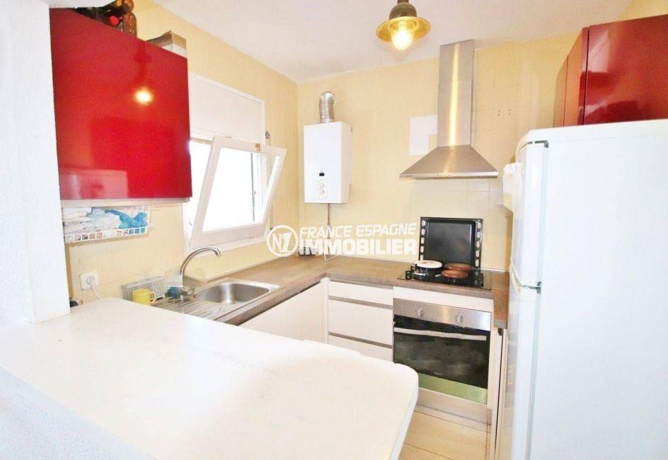 agence immobilière roses espagne: appartement ref.3633, cuisine aménagée toute équipée