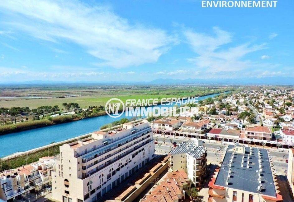 agence immobiliere empuriabrava: studio ref.3639, aperçu de la la Muga (rivière) et ses alentours