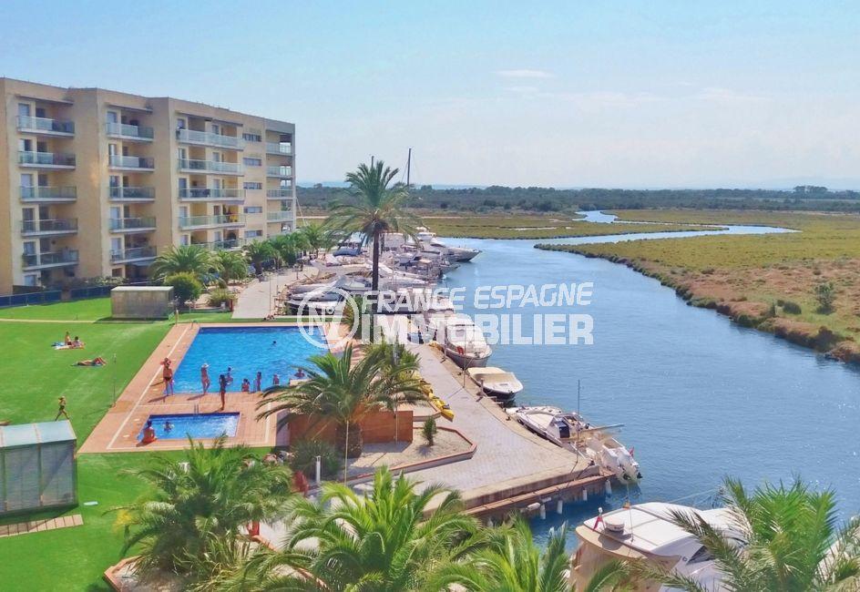 agence immobiliere santa margarita, appartement 69 m² avec vue canal dans résidence avec piscine