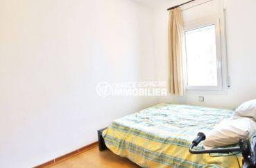 achat appartement rosas, ref.3633, troisième chambre avec un lit double