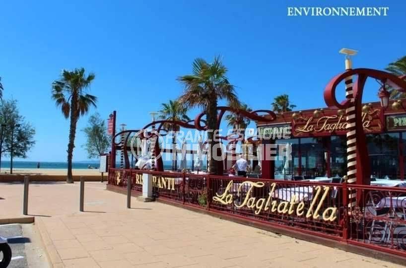 immo center rosas: appartement ref.3637, restaurant près de la plage environnante