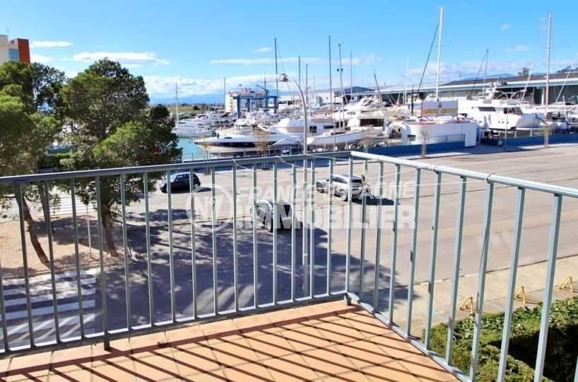 vente appartement rosas, ref.3655, terrasse avec vue sur le canal, exposition sud-ouest