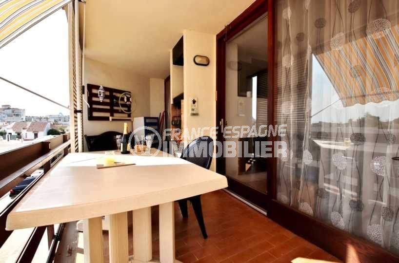 immobilier Espagne bord de mer : appartement Santa Margarita, Roses proche plage