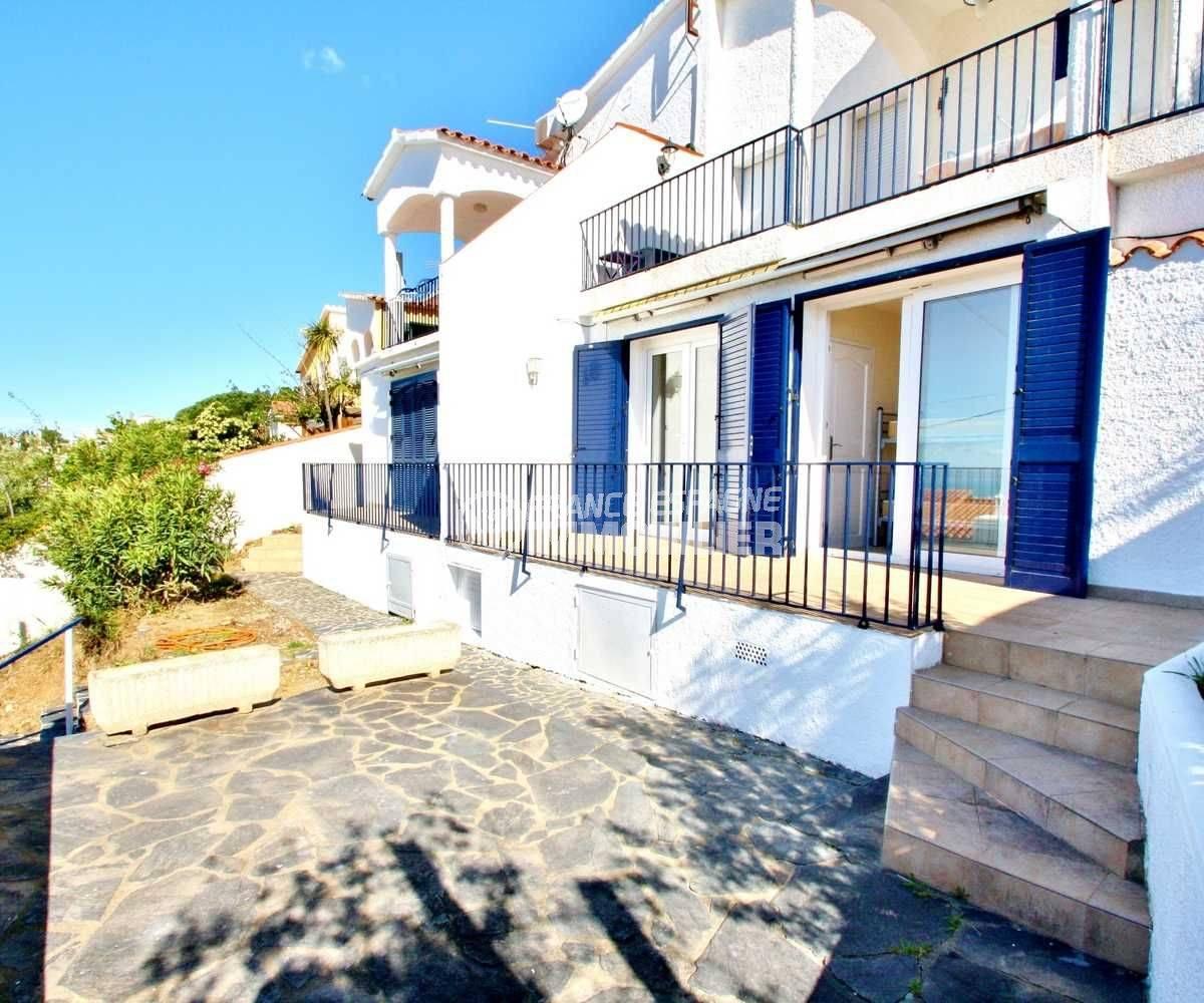 Deux appartements mitoyens Mas Fumats, vue mer