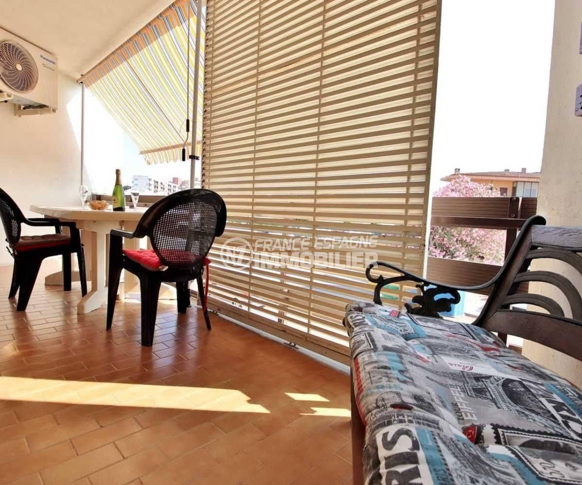 appartement a vendre rosas, ref.3666, terrasse de 11 m² avec vue dégagée