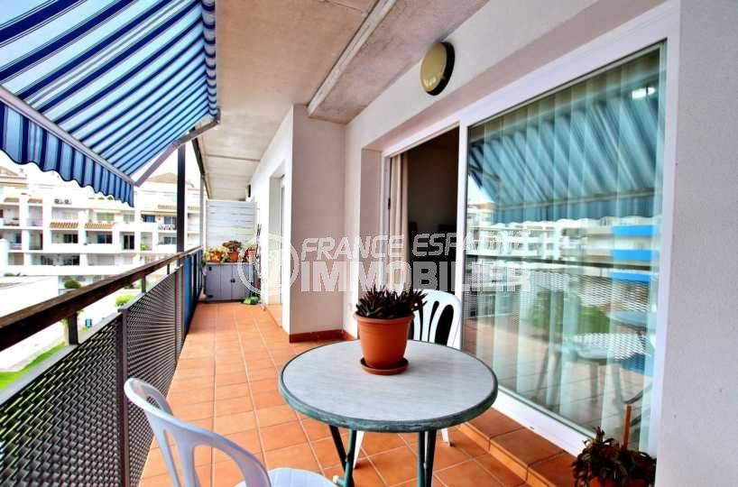agence immobiliere rosas santa margarita, vend appartement 56 m², grande terrasse