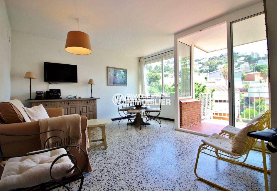 achat appartement espagne, ref.3679, salon / séjour accès balcon vue dégagée