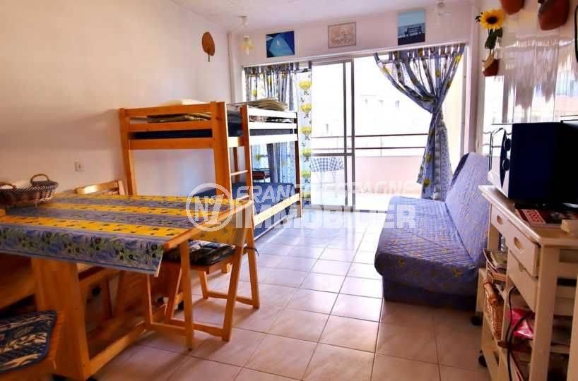 vente appartement rosas pas cher, 35 m², piscine, proche plage