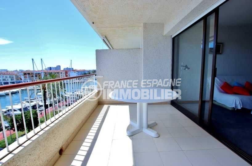 immocenter empuriabrava, appartement 81 m² avec terrasse vue mer et canal