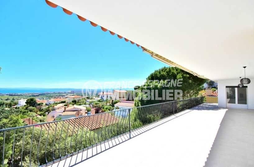 maison a vendre espagne, ref.3512, vue sur la mer depuis la grande terrasse