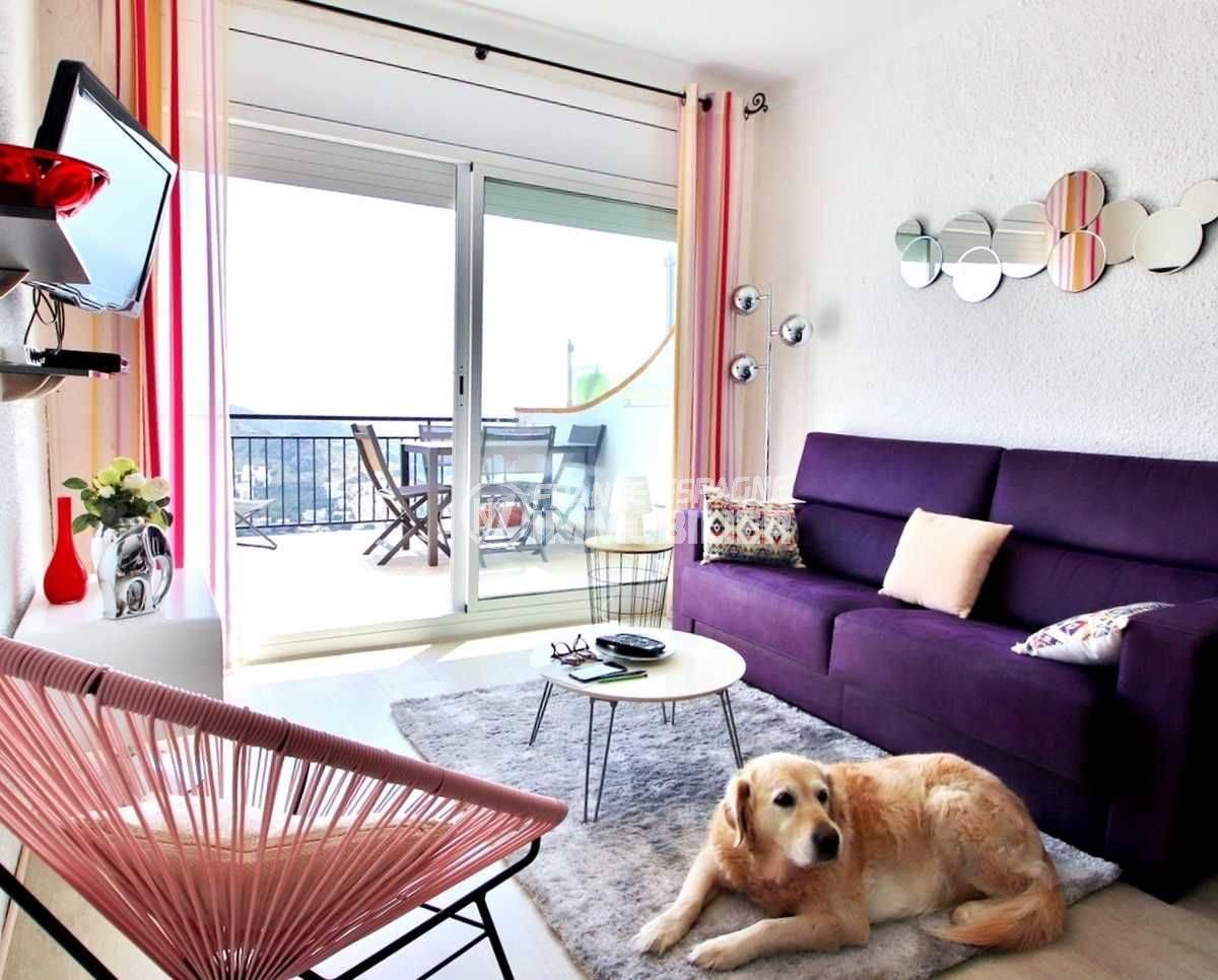 immobilier costa brava: appartement a vendre rosas, rénové 54 m², avec piscine et parking