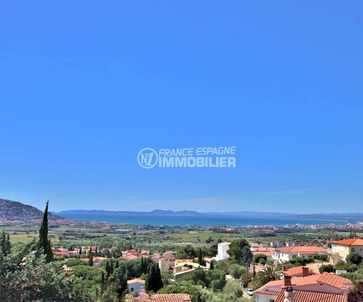 immo roses espagne: villa ref.3512, aperçu du paysage depuis la terrasse