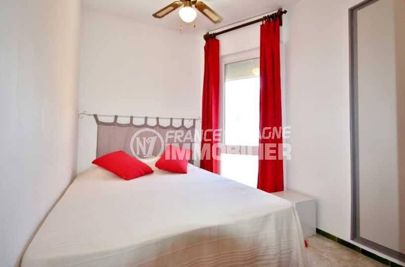 appartement rosas vente, ref.3671, chambre 2 lumineuse, lit double