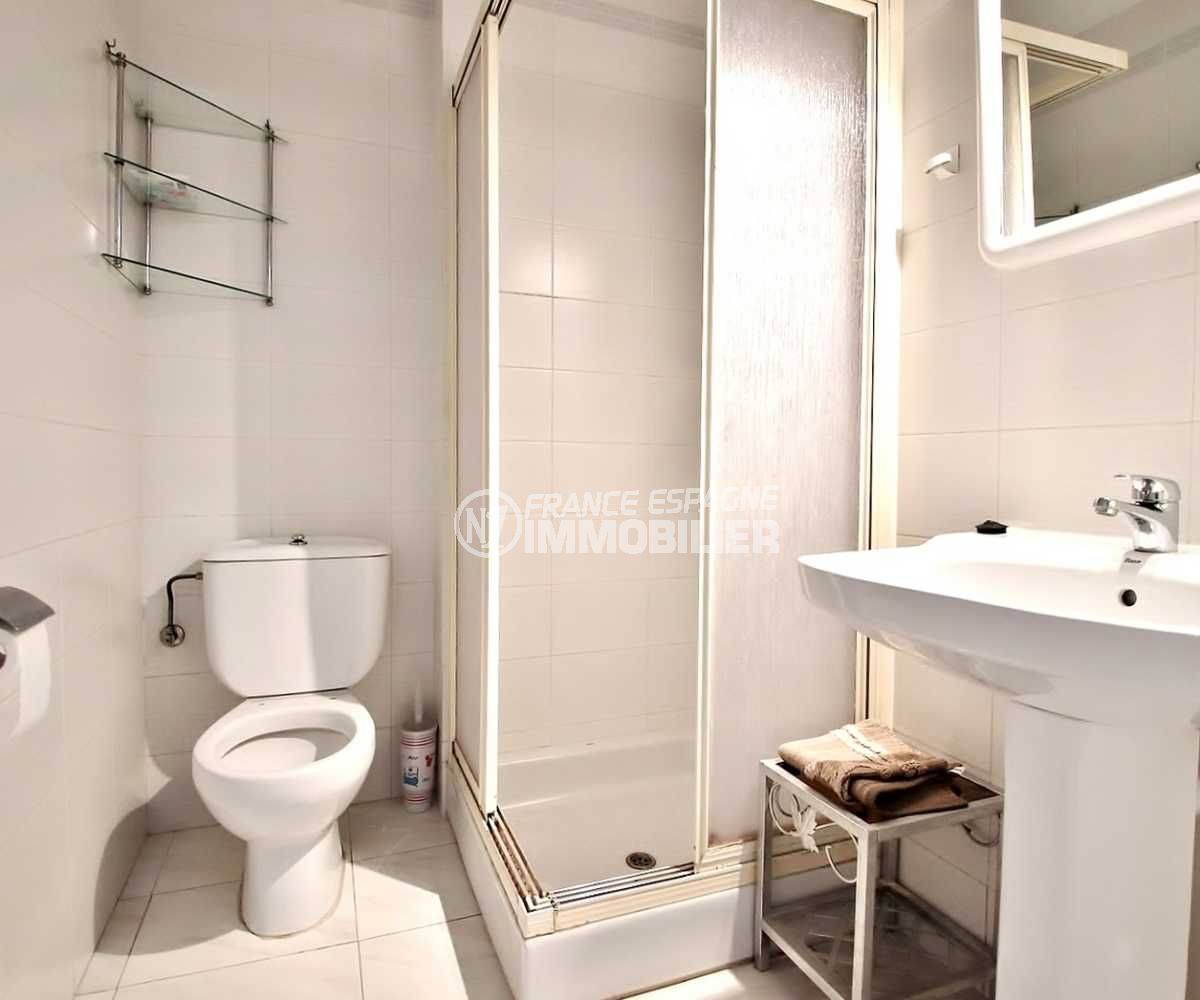 immo center rosas: bel appartement 106 m², 3 chambres, proche plage, solarium