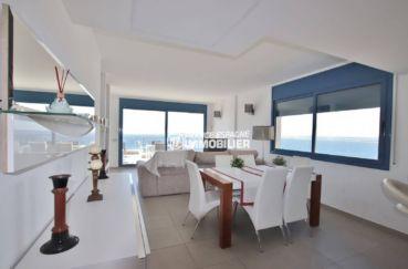 maison a vendre rosas vue mer, salon / séjour avec vue imprenable sur la mer