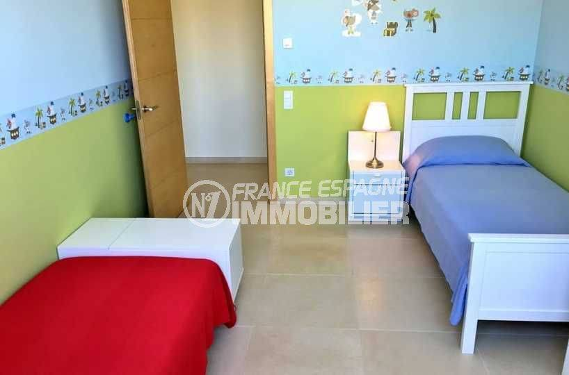 vente immobilier espagne costa brava: ref.3682, troisième chambre avec 2 lits simples