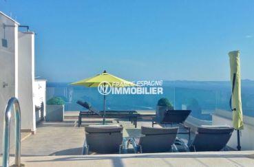 agence immobilière costa brava: villa 216 ², terrain de 402 m² avec piscine vue mer