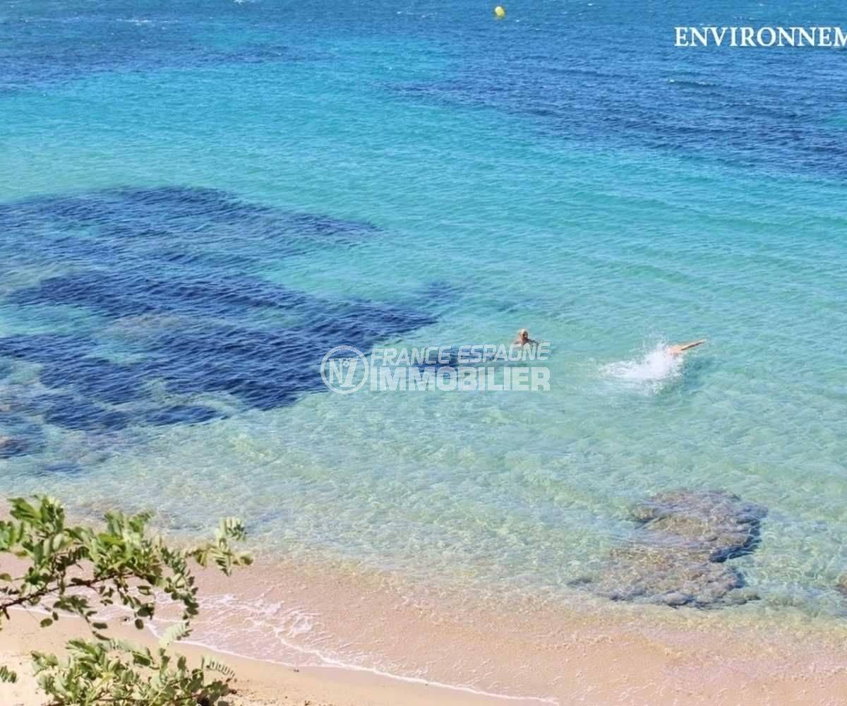 acheter appartement rosas, ref.3665, vue plongeante sur une plage des environs