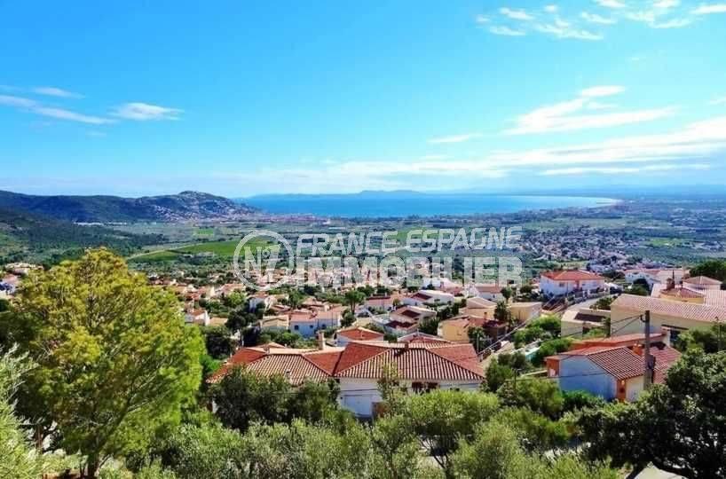 rosas en espagne: villa ref.3512, belle vue dégagée depuis la terrasse