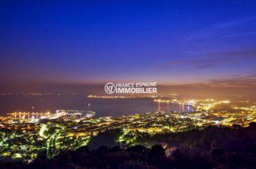 immo center roses: magnifique vue de nuit depuis les hauteurs