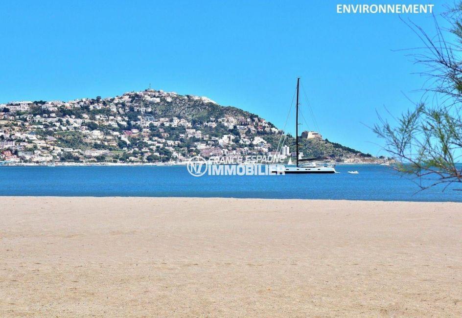 paysage montagneux près de la plage environnante