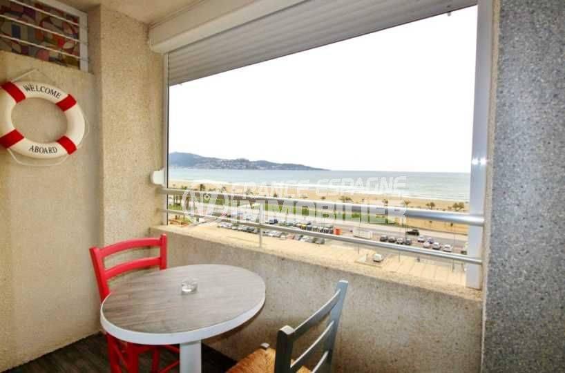 achat appartement espagne pas cher - studio Empuriabrava terrasse vue mer