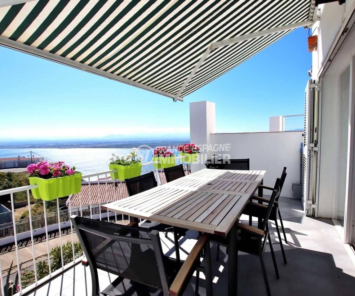 maison a vendre rosas - villa 92 m² terrasse vue mer