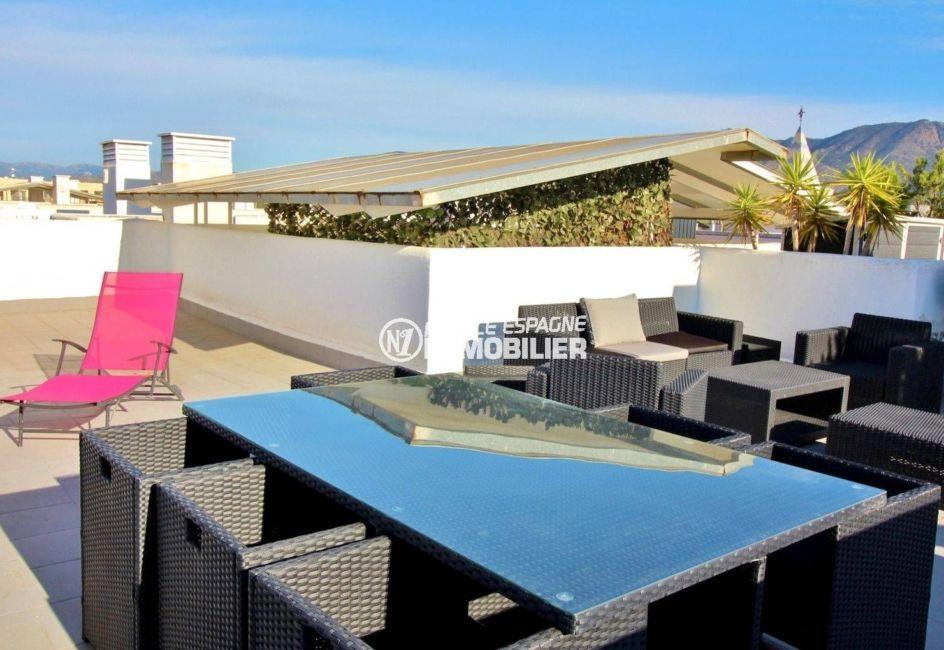 vente appartement rosas, ref.3694, vue mer, terrasse solarium 64 m²