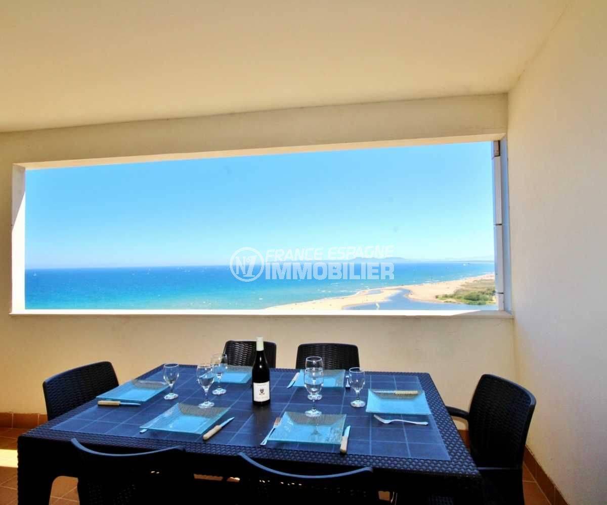 immo center empuriabrava, appartement ref.3695, terrasse vue mer
