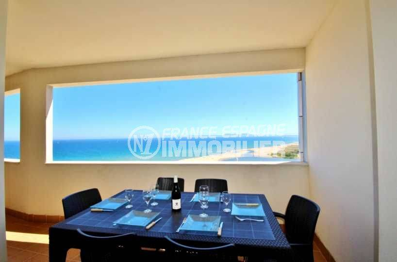 immo center empuriabrava, appartement terrasse vue mer