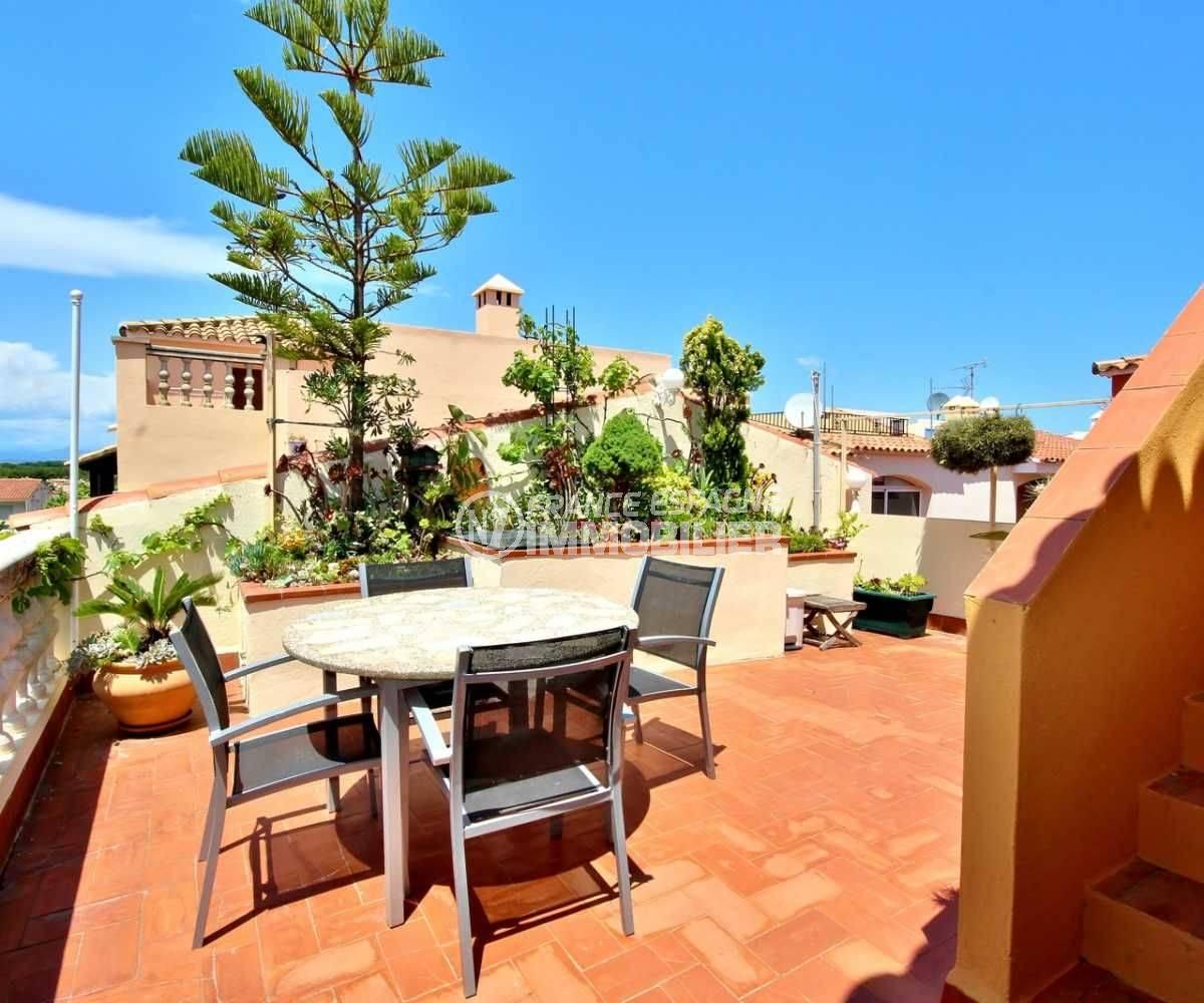vente immobilier espagne - appartement Empuriabrava, grande terrasse