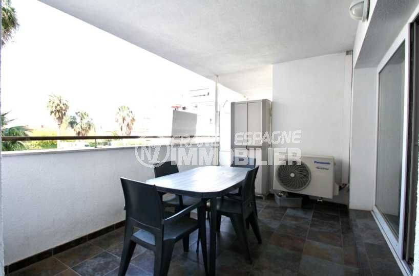 immo center rosas - appartement santa margarida, belle terrasse